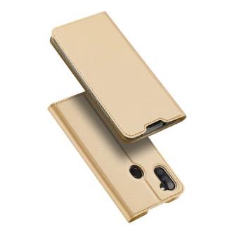 """Auksinės spalvos atverčiamas dėklas Samsung Galaxy A11 / M11 telefonui """"Dux Ducis Skin"""""""
