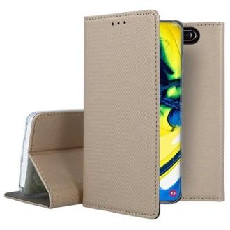 "Auksinės spalvos atverčiamas dėklas Samsung Galaxy A805 / A905 A80 / A90 telefonui ""Smart Magnet"""