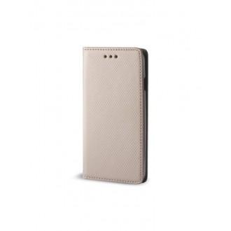 """Auksinės spalvos atverčiamas dėklas Samsung Galaxy i9500 / i9505 S4 telefonui """"Smart Magnet"""""""