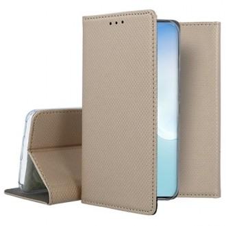 """Auksinės spalvos atverčiamas dėklas Samsung Galaxy Note 10 Lite / A81 telefonui """"Smart Magnet"""""""