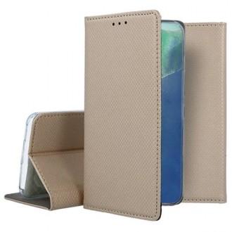 """Auksinės spalvos atverčiamas dėklas Samsung Galaxy Note 20 telefonui """"Smart Magnet"""""""