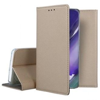 """Auksinės spalvos atverčiamas dėklas Samsung Galaxy Note 20 Ultra telefonui """"Smart Magnet"""""""