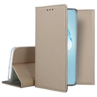"""Auksinės spalvos atverčiamas dėklas Samsung Galaxy S20 plus telefonui """"Smart Magnet"""""""
