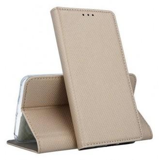 """Auksinės spalvos atverčiamas dėklas Samsung Galaxy S20 FE / S20 Lite telefonui """"Smart Magnet"""""""