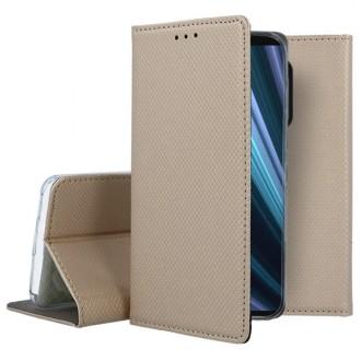 """Auksinės spalvos atverčiamas dėklas Sony Xperia 1 / XZ4 telefonui """"Smart Magnet"""""""