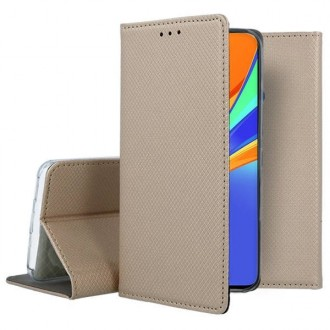 """Auksinės spalvos atverčiamas dėklas """"Smart Magnet"""" telefonui iPhone 13 Pro"""