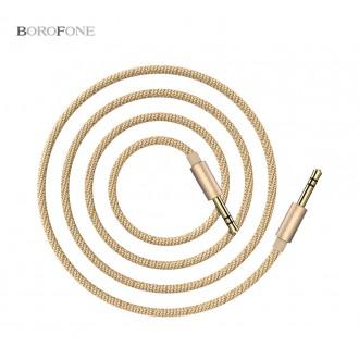 Auksinės spalvos audio adapteris 3,5mm į 3,5mm Borofone BL3