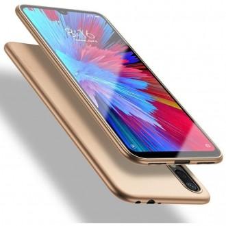 Auksinės spalvos dėklas X-Level Guardian Samsung Galaxy A21 telefonui