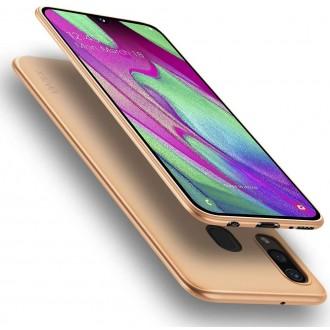 Auksinės spalvos dėklas X-Level Guardian Samsung Galaxy A405 A40 telefonui