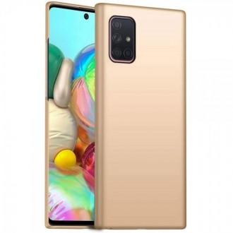 Auksinės spalvos dėklas X-Level Guardian Samsung Galaxy A515 A51 telefonui