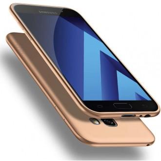 Auksinės spalvos dėklas X-Level Guardian Samsung Galaxy A520 A5 2017 telefonui
