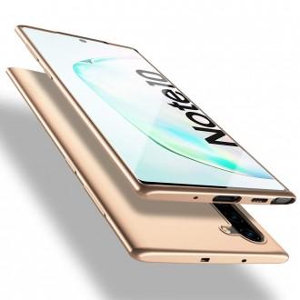 Auksinės spalvos dėklas X-Level Guardian Samsung Galaxy Note 10 telefonui