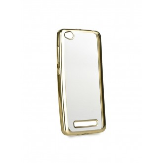 """Auksinės spalvos silikoninis dėklas Xiaomi Redmi 4A telefonui """"Glossy"""""""
