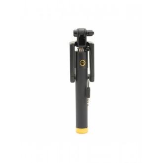 """Auksinės spalvos teleskopinis fotografavimosi laikiklis telefonui """"Black line"""" (laidinis monopodas)"""