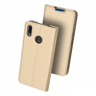 """Auksinis atverčiamas dėklas Huawei P Smart Z telefonui """"Dux Ducis Skin"""""""