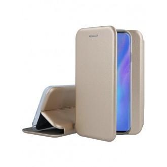 """Auksinis atverčiamas dėklas Huawei P30 Pro telefonui """"Book Elegance"""""""
