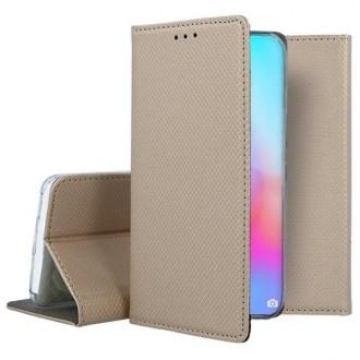 """Auksinis atverčiamas dėklas Huawei P40 Pro telefonui """"Smart Magnet"""""""