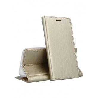 """Auksinis atverčiamas dėklas Samsung Galaxy A202 A20e telefonui """"Smart Magnetic"""""""