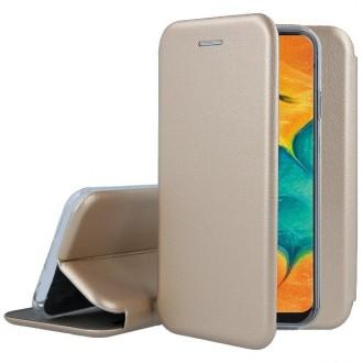 "Auksinis atverčiamas dėklas Samsung Galaxy A205 A20 / A305 A30 telefonui ""Book Elegance"""
