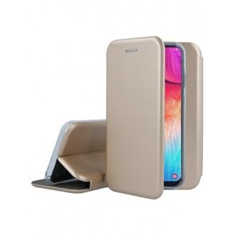 """Auksinis atverčiamas dėklas Samsung Galaxy A505 A50 / A507 A50s / A307 A30s telefonui """"Book Elegance"""""""