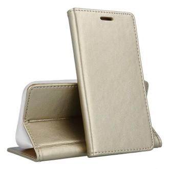 """Auksinis atverčiamas dėklas Samsung Galaxy A505 A50 / A507 A50s / A307 A30s telefonui """"Smart Magnetic"""""""