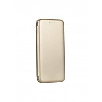 """Auksinis atverčiamas dėklas Samsung Galaxy A520 A5 2017 telefonui """"Book Elegance"""""""