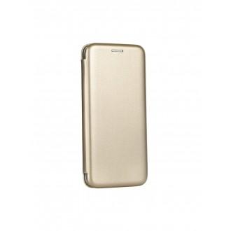"""Auksinis atverčiamas dėklas Samsung Galaxy G950 S8 telefonui """"Book Elegance"""""""