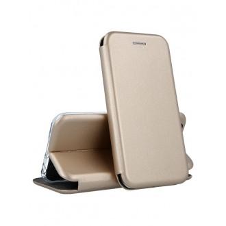 """Auksinis atverčiamas dėklas Samsung Galaxy G955 S8 Plus telefonui """"Book Elegance"""""""