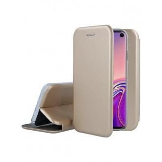"""Auksinis atverčiamas dėklas Samsung Galaxy G970 S10e telefonui """"Book Elegance"""""""