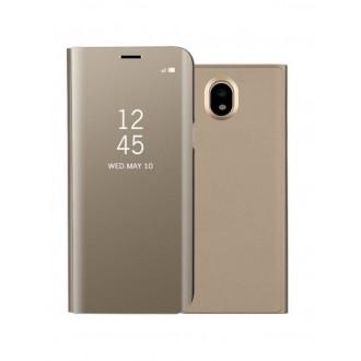 """Auksinis atverčiamas dėklas Samsung Galaxy J530 J5 2017 telefonui """"Sview"""""""