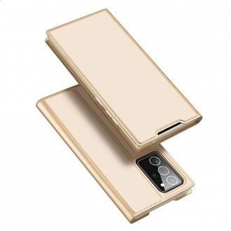 """Auksinis atverčiamas dėklas Samsung Galaxy Note 20 Ultra telefonui """"Dux Ducis Skin"""""""