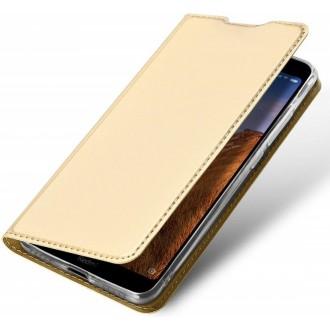 """Auksinis atverčiamas dėklas Xiaomi Redmi 8 telefonui """"Dux Ducis Skin"""""""