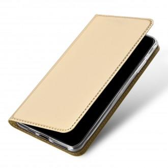 """Auksinis atverčiamas dėklas Xiaomi Redmi 9A telefonui """"Dux Ducis Skin"""""""