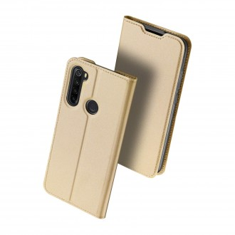 """Auksinis atverčiamas dėklas Xiaomi Redmi Note 8 telefonui """"Dux Ducis Skin"""""""