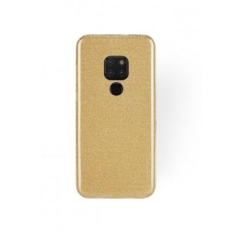 "Auksinis blizgantis silikoninis dėklas Huawei Mate 20 telefonui ""Shining"""