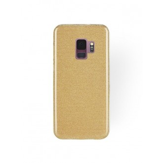 """Auksinis blizgantis silikoninis dėklas Samsung Galaxy G960 S9 telefonui """"Shining"""""""