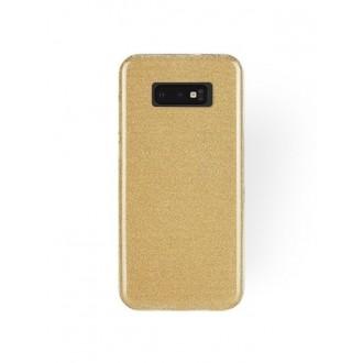 """Auksinis blizgantis silikoninis dėklas Samsung Galaxy G970 S10E telefonui """"Shining"""""""