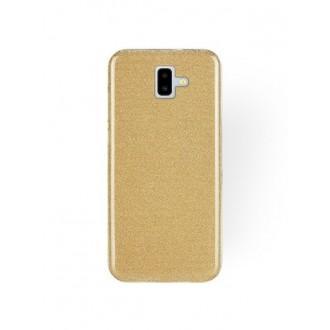 """Auksinis blizgantis silikoninis dėklas Samsung Galaxy J610 J6 Plus 2018 telefonui """"Shining"""""""