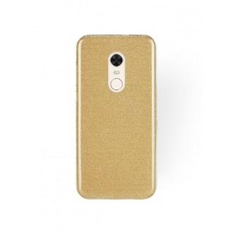 """Auksinis blizgantis silikoninis dėklas Xiaomi Redmi 5 Plus telefonui """"Shining"""""""