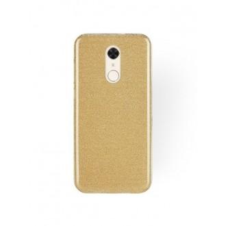 """Auksinis blizgantis silikoninis dėklas Xiaomi Redmi 5 telefonui """"Shining"""""""