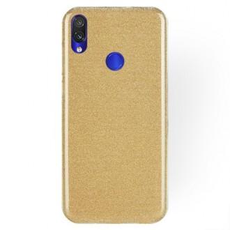 "Auksinis blizgantis silikoninis dėklas Xiaomi Redmi Note 7 / Note 7 Pro telefonui ""Shining"""