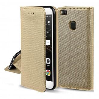 Aukso spalvos dėklas Smart Magnet telefonui LG K40S