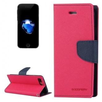 """Avietinės spalvos Mercury Goospery atverčiamas dėklas """"Fancy Diary"""" telefonui Apple iPhone 6 Plus"""