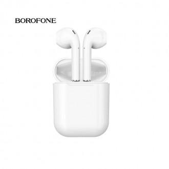 Balta belaidė laisvų rankų įranga Borofone BE28 Plus Airpods