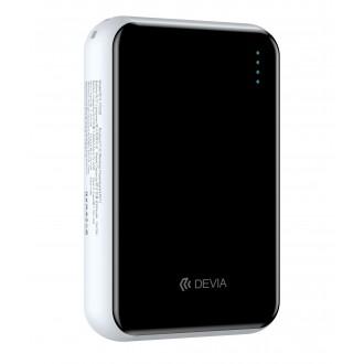 Balta išorinė baterija Power Bank Devia Kintone Mini 10000mAh su bevielio įkrovimo funkcija