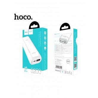 Balta išorinė baterija POWER BANK HOCO B35A 5200mAh