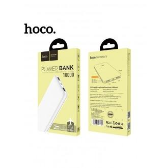 Balta išorinė baterija POWER BANK HOCO J26 10000mAh