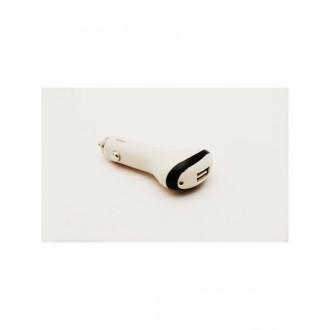 Baltas automobilinis įkroviklis su USB jungtimi (big / long) (0.6A)