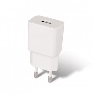 Baltas buitinis įkroviklis Maxlife MXTC-01 USB + Type-C (1A)
