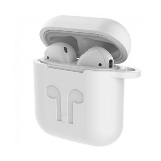 "Baltas dėklas ""Devia Naked Silicone"" Apple Airpods"